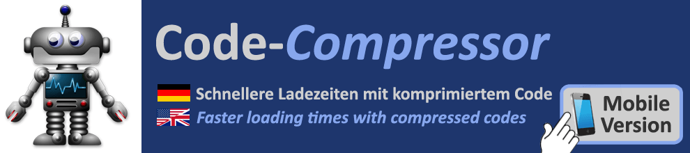Speed up page loading - Code-Compressor / Minifier